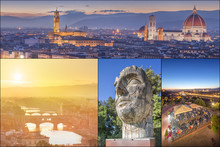Collage With Images Of Florenc...