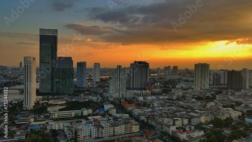 Fototapety, obrazy: Sunset in Bangkok