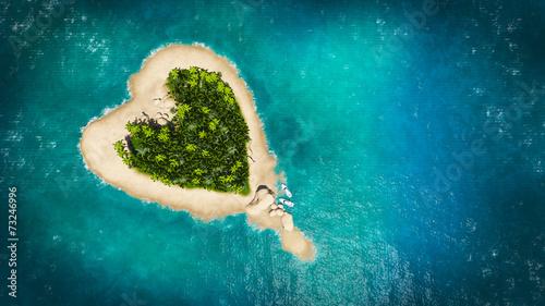 Poster Eiland heart island