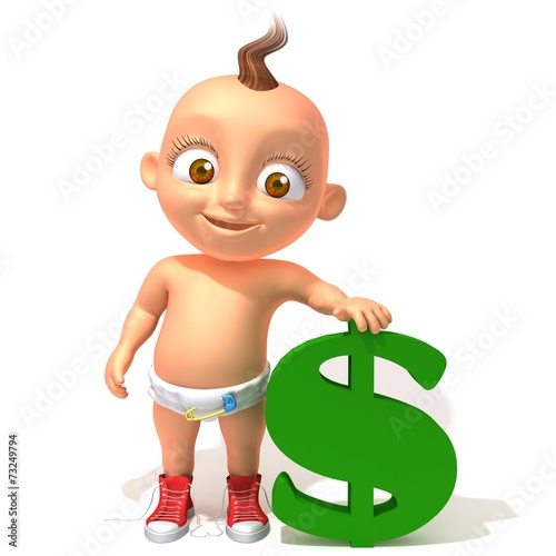 Foto Baby Jake with dolar