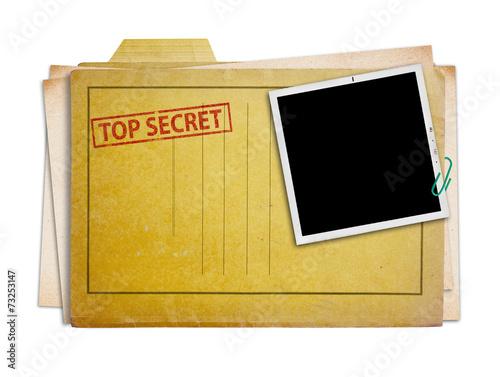 Fotografie, Obraz  Přísně tajné složky izolované