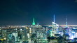 night light manhattan top 4k time lapse from new york