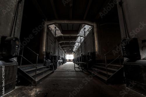 Spoed Foto op Canvas Stadion Dark industrial interior