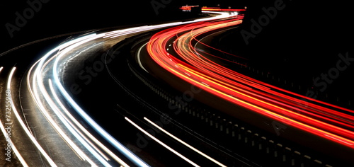 Foto op Aluminium Nacht snelweg Night traffic