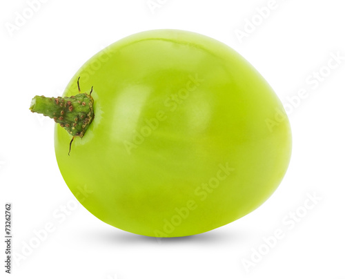 green single grape isolated on the white background Fototapete