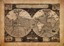 Old Looking Vintage Map Illustration