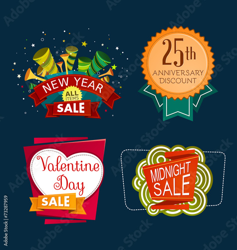 Various Sale Event Tittle Buy This Stock Vector And Explore