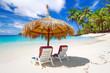 Tropical beach scenery from sun holidays