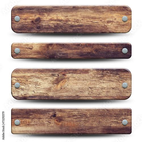 Fotografie, Obraz  4 plaques en bois rustique