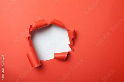 Fotografia Red paper with hole
