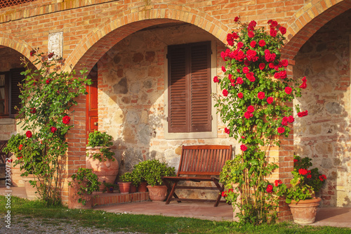 Fotografiet  Italian agritourism in Tuscany