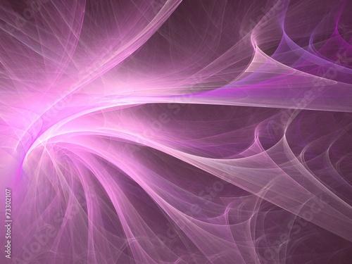 Fotobehang Fractal waves Abstract shapes made of fractal textures.