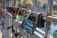 Names On The Padlocks As A Pro...
