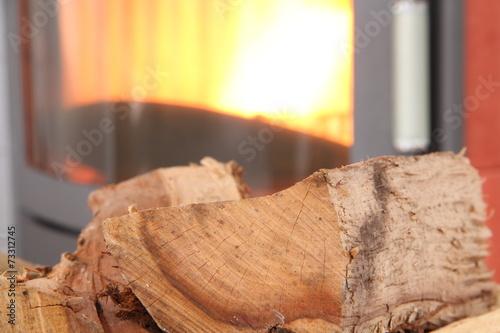 In de dag Vuur Kaminofen mit Holz und Pellets