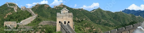 Aluminium Prints Great Wall Die Chinesische Mauer bei Jinshanling