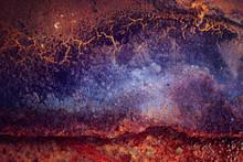 Orange Blue Abstract Rust Texture