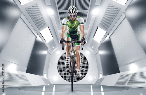 Fototapety Sport  sport-cyclist-has-a-traning-in-the-wind-tunnel