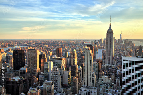 Keuken foto achterwand New York New York City Midtown with Empire State Building at Sunset