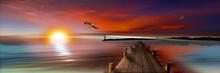 Sonnenuntergang Am Bootssteg M...