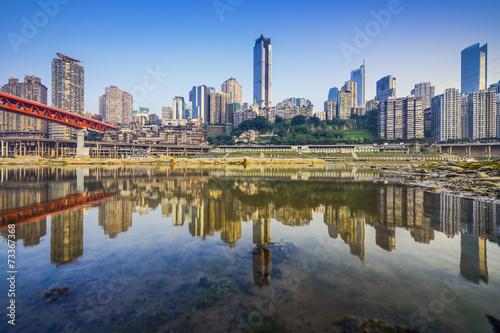 Photo  Chongqing, China Cityscape on the Jialing River