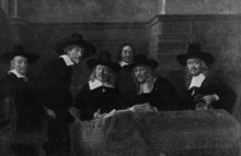 Syndics Of The Drapers' Guild (Rembrandt, 1662)