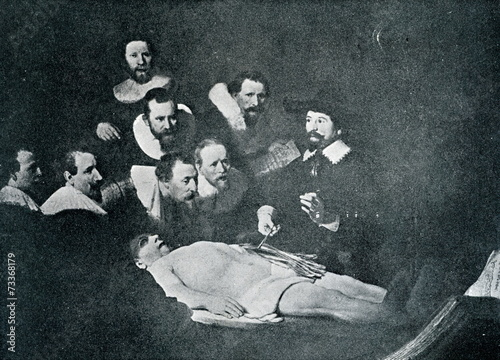 Montage in der Fensternische Tulpen The Anatomy Lesson of Dr. Nicolaes Tulp (Rembrandt, 1632)