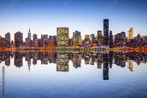 Photo  New York City Midtown Manhattan Skyline View