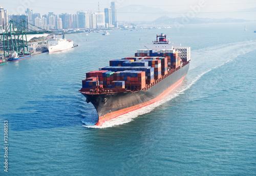 Fotografia  Large container ship