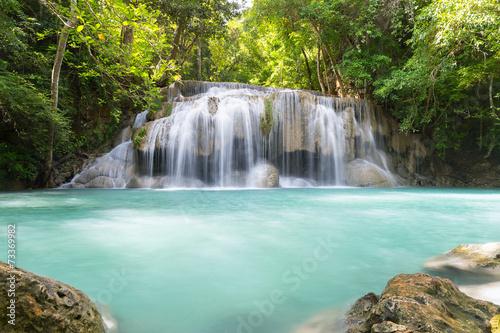 Poster Bleu nuit waterfall