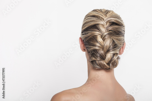 Fotobehang Kapsalon Braided hairdo