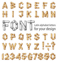 Font Consisting Of The Latin A...