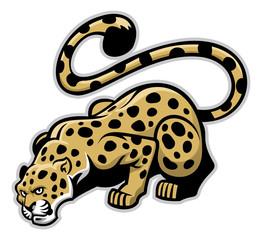 Fototapetacrouching leopard mascot