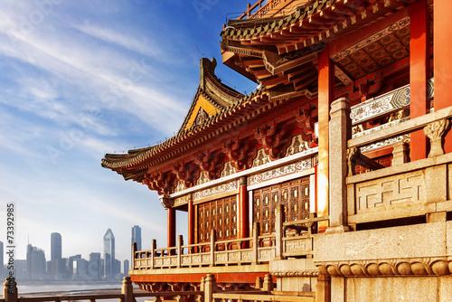 Poster Pekin ancient Chinese architecture