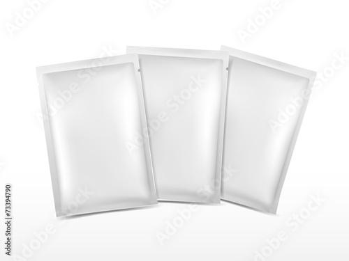 Obraz blank plastic package set for cosmetics - fototapety do salonu