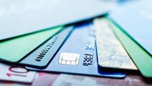 Euro Bills And Credit Card Bac...