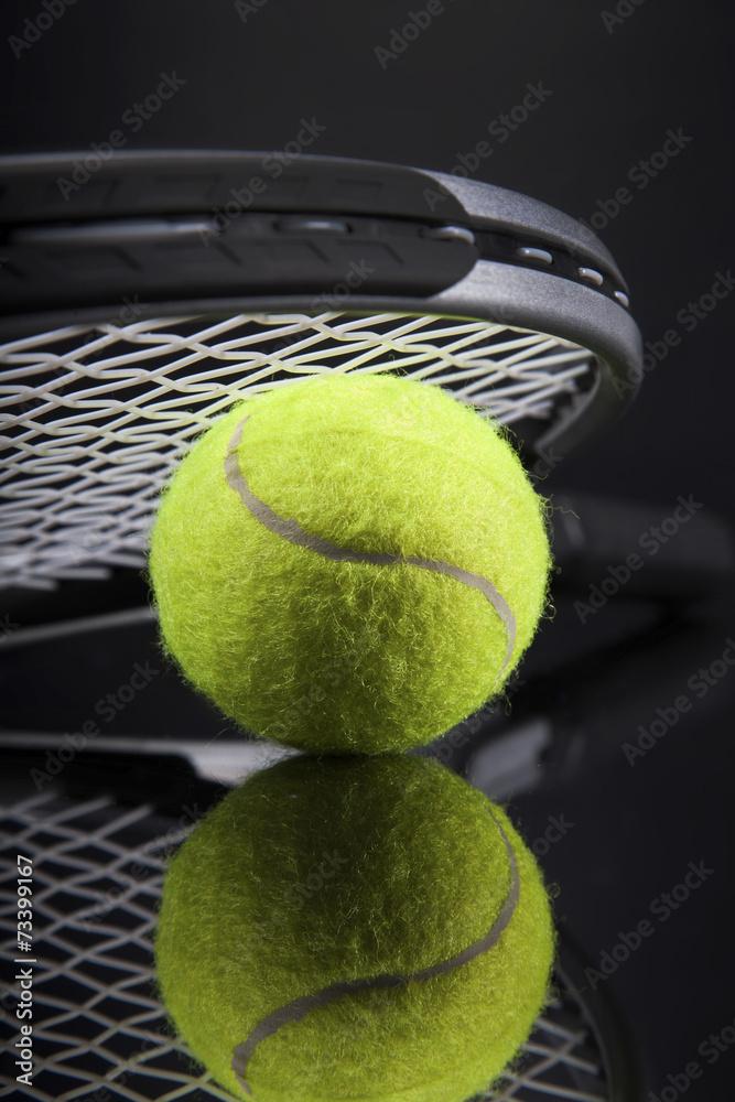 Plakát  Sada tenisu. Rakety a míček.