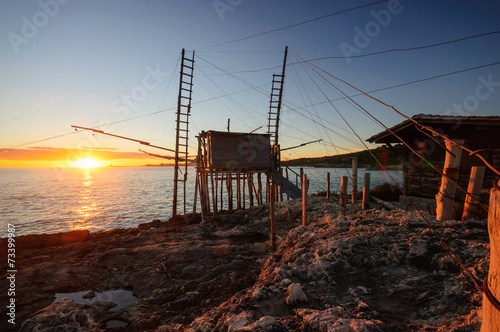 Foto op Canvas Cathedral Cove Vieste Trabocco