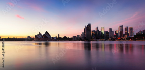 Sydney City Skyline at sunrise