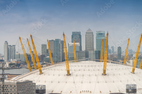 Stunning Canary Wharf financial district skyline in London #73405925