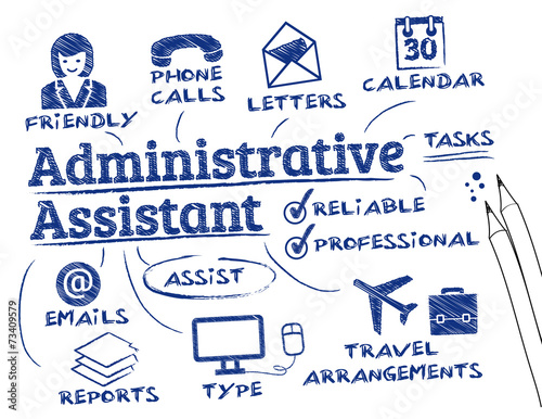 administrative assistant Wallpaper Mural
