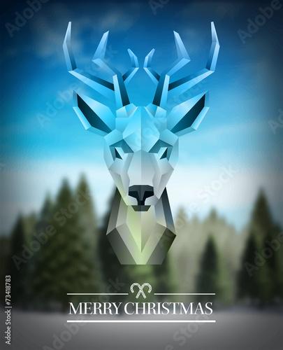 Fototapeta Wesołych Świąt Bożego Narodzenia z hipsterskim
