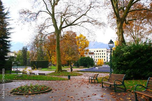 Fotografie, Obraz  le parc d'Aix-Les-Bains