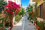 Fototapeta Alley - A narrow street in Rethymnon