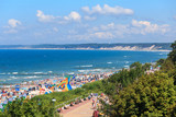 Promenade & Beach, Baltic Coast, Ustka in Poland