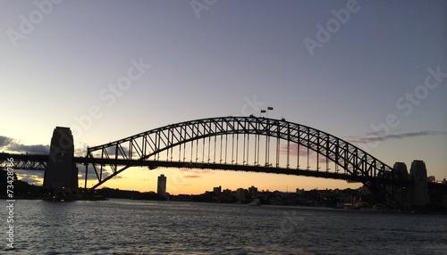 Staande foto Sydney Puente de Sidney al ocaso