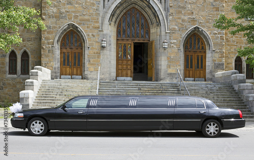 Photographie  marriage limo