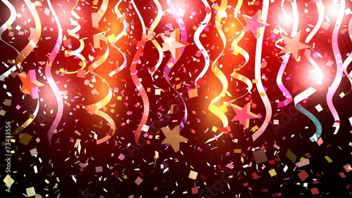 Valokuva  Birthday background with confetti