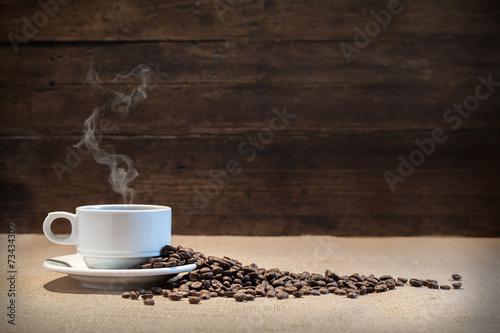 Foto op Plexiglas Koffiebonen Granos de café