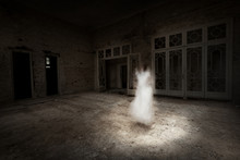 Ghost Girl In White Appears In Grunge Room