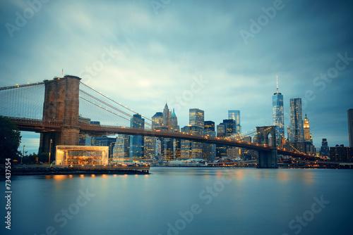Foto op Aluminium New York Manhattan Downtown